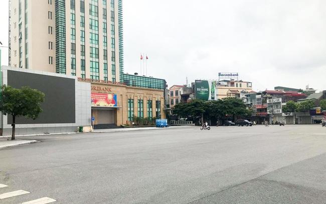 Thành phố Hải Dương vắng lặng ngày đầu giãn cách toàn xã hội