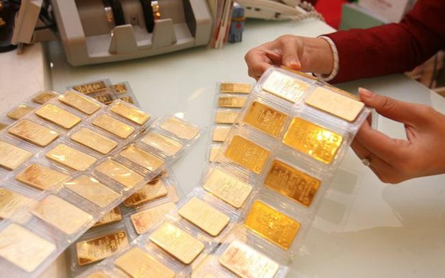 Giá vàng giảm mạnh, tuột mốc 57 triệu đồng/lượng