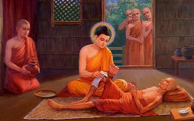 Sai đệ tử lấy nước tắm cho 1 người ốm, Đức Phật chỉ ra việc quan trọng cần phải làm để nhận được phúc báo