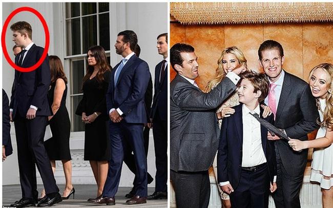 """Hình ảnh mới nhất của """"Hoàng tử Nhà Trắng"""" Barron Trump lại gây chú ý với chiều cao khủng, nhìn lại ảnh 4 năm trước ai cũng ngỡ ngàng"""
