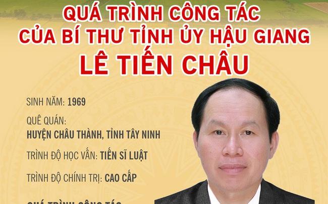 Sự nghiệp chính trị của tân Bí thư Tỉnh ủy Hậu Giang Lê Tiến Châu