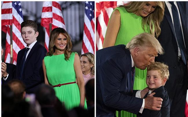 """""""Hoàng tử Nhà Trắng"""" xuất hiện nổi bật, điển trai nhưng lần này bị cháu trai 4 tuổi tranh giành spotlight"""