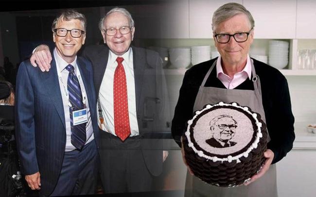 """Nhân dịp sinh nhật thứ 90 của Warren Buffett, bạn thân Bill Gates """"chơi lớn"""" khi tự tay vào bếp làm quà tặng đặc biệt này kèm theo vô vàn lời khen có cánh"""