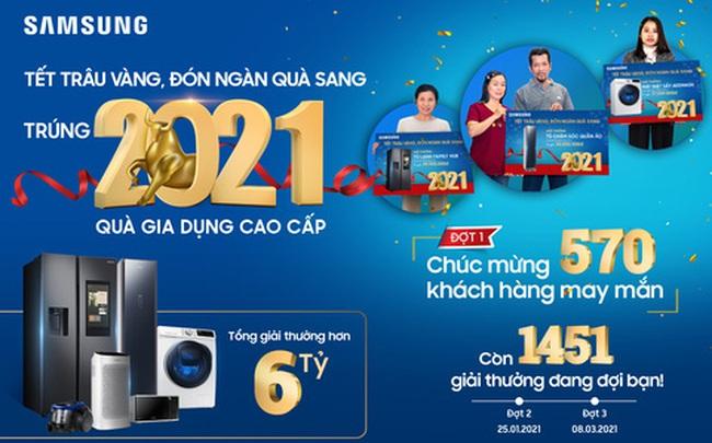 Trao tặng hàng ngàn phần quà, Samsung đồng hành cùng khách hàng tưng bừng đón Tết Tân Sửu