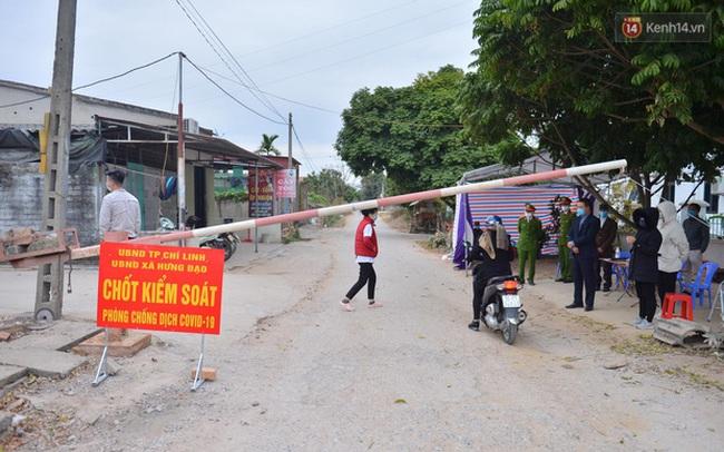 Ảnh: Phong tỏa 1 thôn ở Hải Dương, giãn cách xã hội 1 xã liên quan đến nữ công nhân dương tính Covid-19