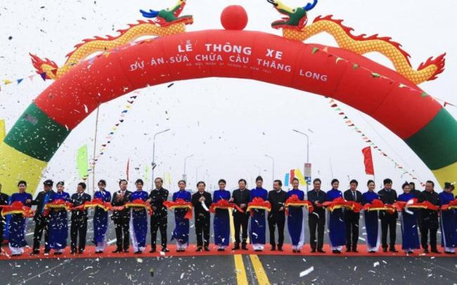 CLIP: Thông xe cầu Thăng Long sau gần 5 tháng sửa chữa