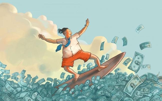 Cổ phiếu ngân hàng bứt phá, VnIndex tiến lên vùng 1.400 điểm