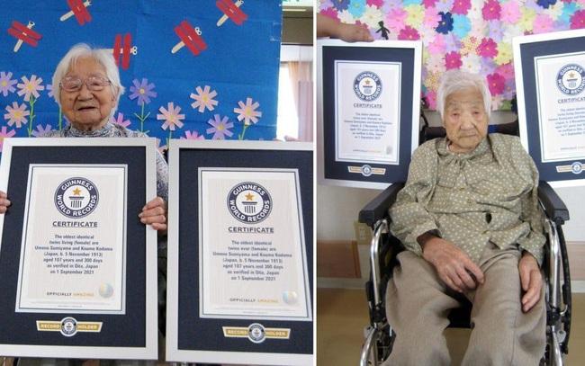 Hai cụ bà 107 tuổi người Nhật lập kỷ lục trở thành cặp song sinh sống thọ nhất thế giới: Ai cũng ngưỡng mộ bởi tính cách hòa đồng và tích cực
