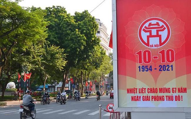 Đường phố Hà Nội rực rỡ chào mừng Kỷ niệm 67 năm Ngày Giải phóng Thủ đô