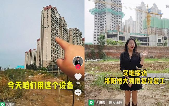 """TikToker Trung Quốc đem drone đi """"điều tra"""" xem các dự án BĐS của Evergrande còn hoạt động không"""