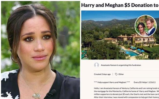 """Chuyện thật như đùa: Dân Mỹ quyên góp giúp vợ chồng Meghan mua nhà sau màn than khổ bị cắt tài chính, Harry có thực sự """"nghèo"""" đến như vậy?"""