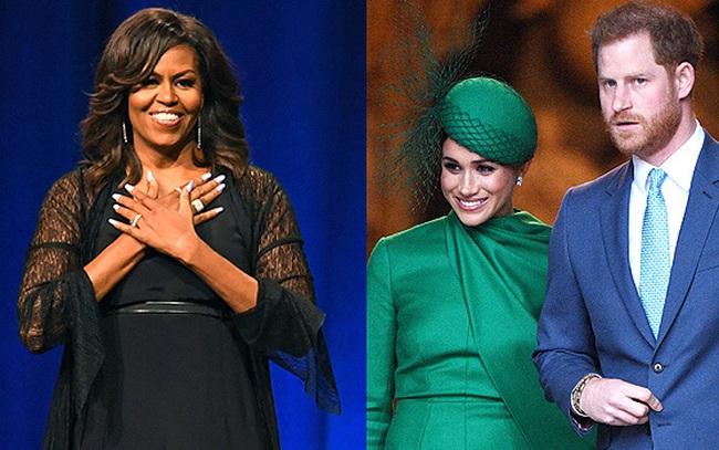 Cựu đệ nhất phu nhân Mỹ Michelle Obama đưa ra lời khuyên cho vợ chồng Meghan Markle chỉ bằng 1 câu nói thâm thúy