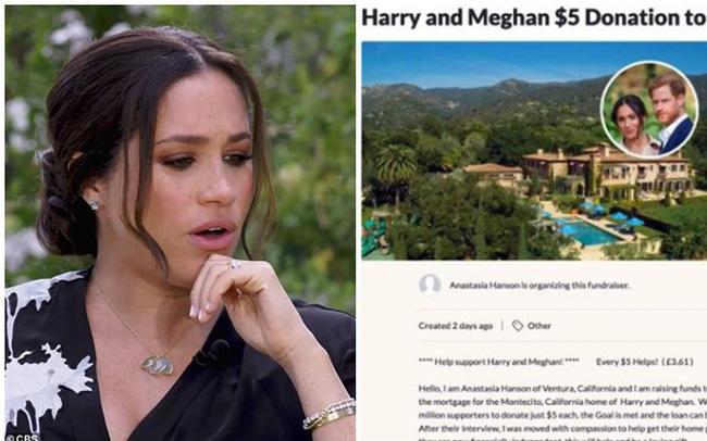 """""""Khổ"""" như vợ chồng Meghan: Trang gây quỹ được dân Mỹ lập ra để giúp đỡ đã """"bay màu"""" sau khi thu về... 2,5 triệu đồng, biệt thự còn bị trộm đột nhập"""
