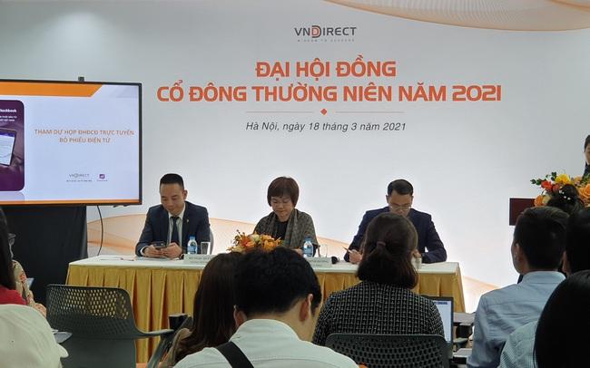 ĐHCĐ VNDIRECT: Kế hoạch lãi ròng 880 tỷ đồng trong năm 2021 hoàn toàn khả thi, quý 1 ước lãi tương đương 40% kế hoạch năm