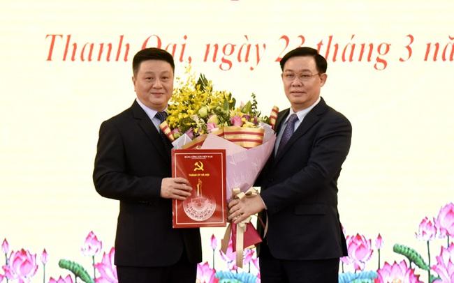 Phó Bí thư Quận Hoàn Kiếm làm Bí thư Huyện ủy Thanh Oai