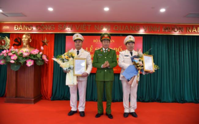 Bộ trưởng Bộ Công an bổ nhiệm 2 tân Cục trưởng
