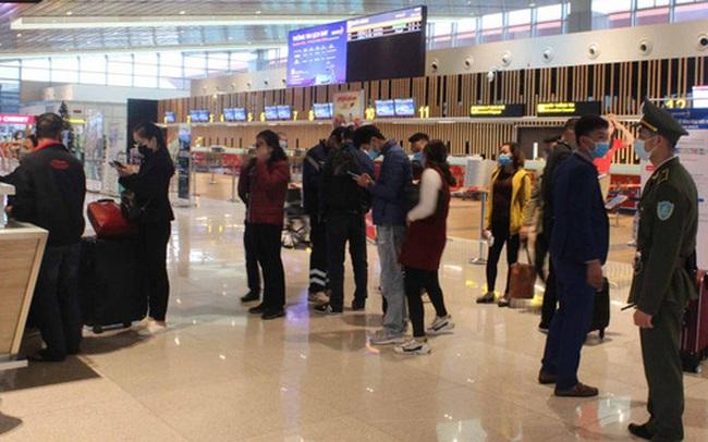 Bên trong nhà ga quốc tế Vân Đồn ngày đầu đón khách sau phong tỏa