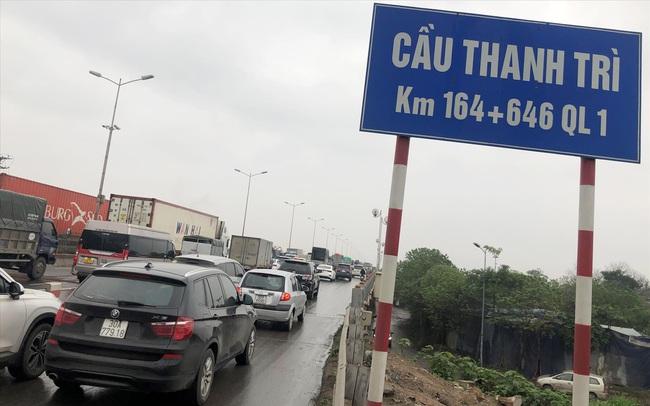 Cầu Thanh Trì sẽ bố trí 8 làn xe