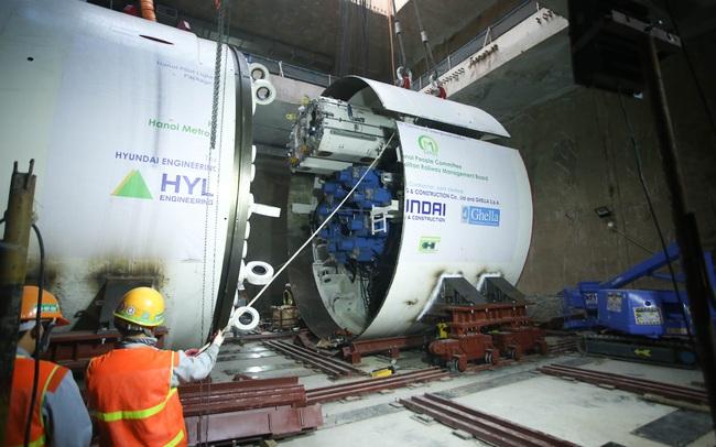 Tận mắt Robot sẵn sàng đào hầm tuyến đường sắt đô thị số 3, đoạn Nhổn - ga Hà Nội