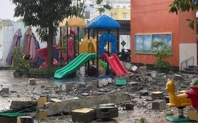"""TP HCM: Khối bêtông """"khủng"""" đổ sụp xuống trường mầm non"""