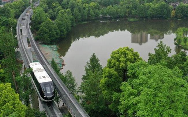 Thành phố này ở Trung Quốc đồng thời đưa hệ thống xe bus và tàu điện tự hành vào hoạt động
