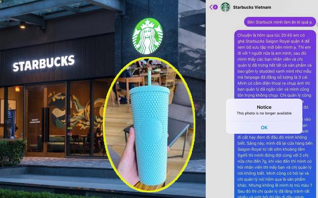 """Nghi vấn nhân viên Starbucks Sài Gòn """"giấu"""" ly hiếm không bán cho khách, bị phản ánh thì fanpage lẳng lặng xoá bình luận?"""