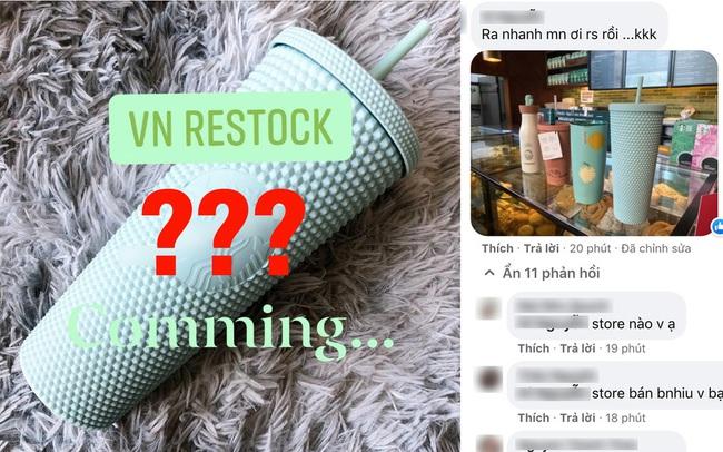 Rộ tin chiếc cốc gây bão của Starbucks đã restock và có mặt tại các cửa hàng ở Việt Nam: Sự thật là gì?