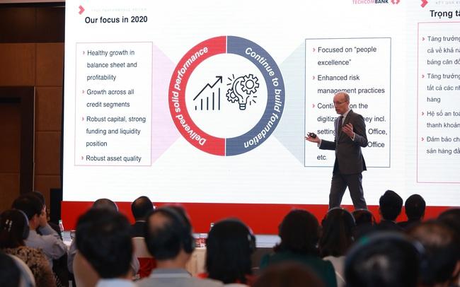 CEO Techcombank: Giá cổ phiếu TCB đang dần phản ánh đúng hơn sức khoẻ và lợi thế của Techcombank so với các ngân hàng khác như thế nào