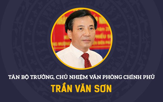 Infographic: Chân dung tân Bộ trưởng, Chủ nhiệm Văn phòng Chính phủ Trần Văn Sơn