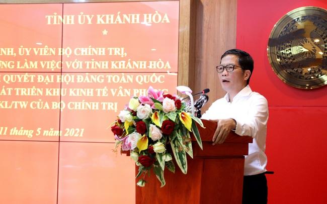 Trưởng Ban Kinh tế Trung ương: Thế mạnh, tiềm năng phát triển của Khánh Hoà còn rất lớn