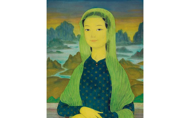 """Bức tranh """"nàng"""" Mona Lisa của họa sĩ người Việt sắp được đấu giá tại Hong Kong, dự đoán đạt 1,2 triệu USD"""
