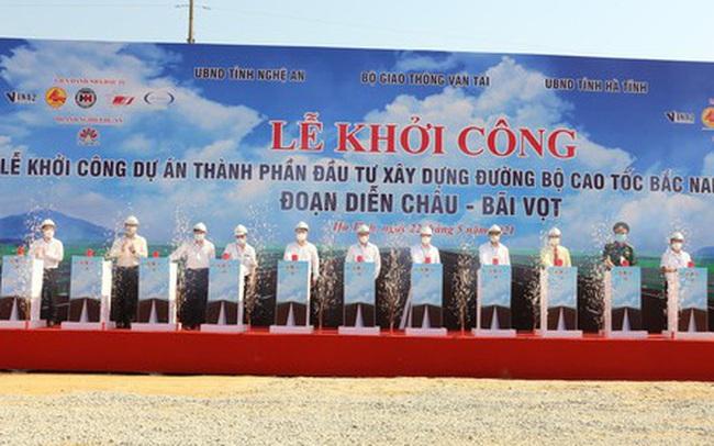 Khởi công dự án cao tốc Diễn Châu - Bãi Vọt với tổng đầu tư hơn 11 nghìn tỷ đồng