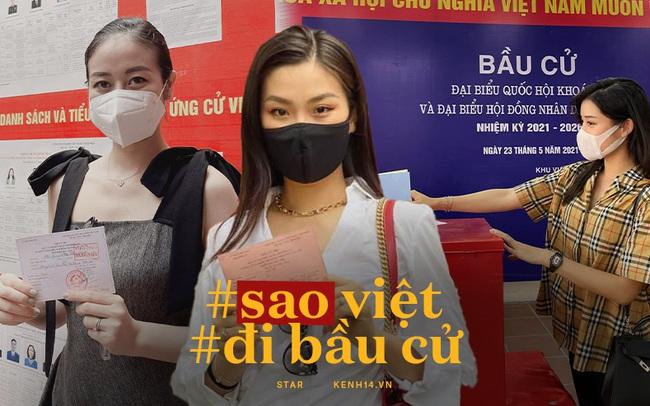 Sao Việt nô nức đi bầu cử: Tiểu Vy, Huyền My dậy sớm cùng dàn hậu bỏ phiếu, Khánh Vân từ Mỹ cũng hào hứng hưởng ứng
