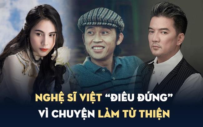 Những nghệ sĩ Việt gặp rắc rối với chuyện làm từ thiện