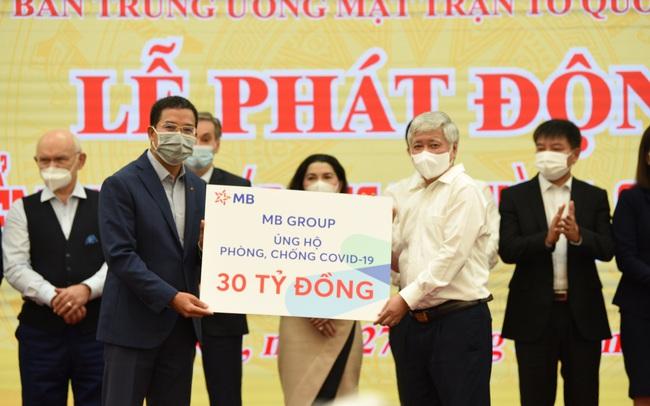 MB Group ủng hộ 30 tỷ đồng vào Quỹ vaccine phòng Covid-19