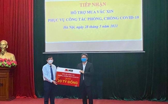 MSB và Tập đoàn TNG Holdings Việt Nam ủng hộ 30 tỷ đồng Quỹ phòng chống dịch Covid-19
