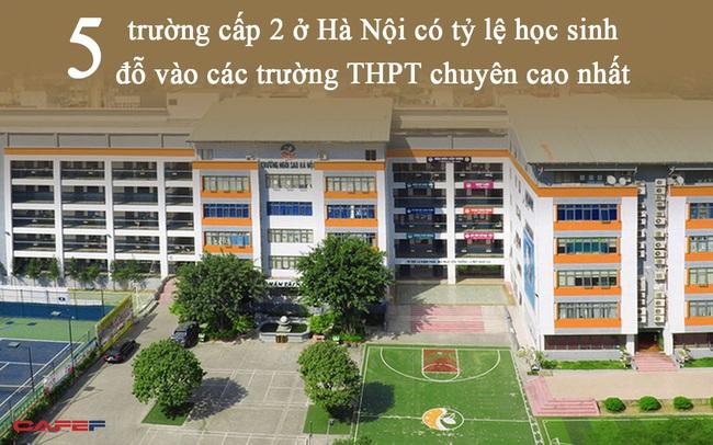 """5 trường THCS sở hữu tỷ lệ học sinh đỗ trường cấp 3 chuyên cao hàng đầu Hà Nội: Có trường tới 85% học sinh lớp 9 """"cá chép hóa rồng"""" thành công!"""