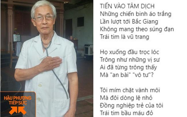"""Bác sĩ về hưu 78 tuổi làm thơ và viết đơn xin lên Bắc Giang chống dịch Covid-19: """"Với tuổi đời của tôi, sức còn đang khỏe lắm, máu tim còn sục sôi"""""""