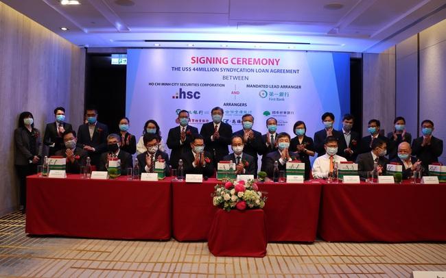 Chứng khoán HSC nhận khoản vay hợp vốn 44 triệu USD từ nhóm các định chế tài chính Đài Loan