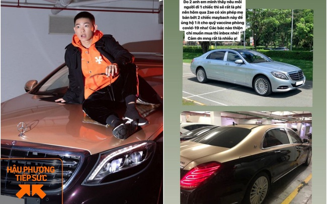 """""""Rich kid"""" Gia Kỳ rao bán 2 siêu xe Maybach tiền tỷ để """"ủng hộ một ít"""" cho Quỹ vaccine phòng Covid-19"""