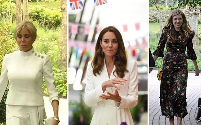 """Công nương Kate """"đọ sắc"""" với các Đệ nhất phu nhân trong bộ đầm giản dị, trở thành tâm điểm chú ý bởi loạt hành động tinh tế"""