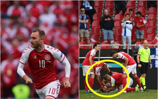 """Khoảnh khắc cầu thủ Đan Mạch gục ngã, ngừng tim đột ngột giữa trận đấu khiến cả thế giới bàng hoàng, bật khóc: Phản ứng """"tia chớp"""" của trọng tài, đội trưởng và đội y tế đã cứu sống mạng người!"""