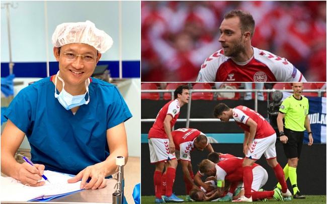 """Từ sự cố ngừng tim của Christian Eriksen tại Euro 2020, bác sĩ BV Việt Đức đưa ra lời khuyên nhằm phòng tránh trường hợp tương tự: """"Thời gian vàng ngọc để sơ cứu là 3 PHÚT"""""""