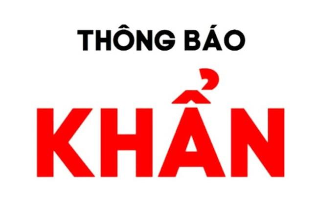 Khẩn tìm người đi trên chuyến bay VN1274 từ TP. Hồ Chí Minh về Thanh Hóa