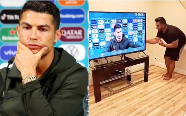 """TikToker làm video """"xúi Ronaldo cuỗm 2 chai Coca-Cola"""" được chia sẻ điên cuồng trên MXH"""