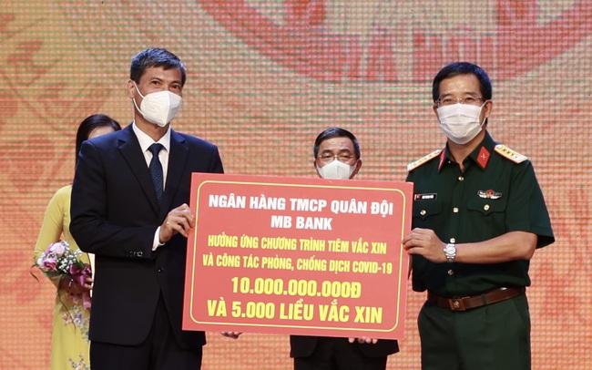 MB góp thêm 10 tỷ đồng cùng Hà Nội đẩy lùi Covid-19