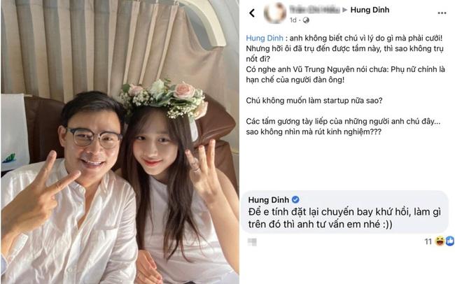 """Vừa cầu hôn MC xinh đẹp, Hùng Đinh đã nhận được lời khuyên """"có nghe anh Vũ Trung Nguyên nói"""" của bạn: Cách CEO đáp lại mới đáng chú ý"""
