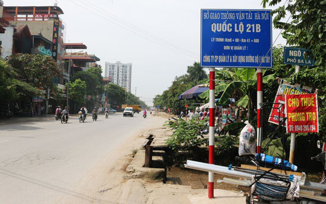 Hà Nội duyệt chỉ giới đường đỏ tuyến quốc lộ 21B, đoạn qua huyện Thanh Oai, Ứng Hòa