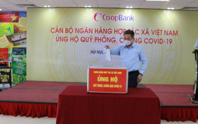 CBNV Ngân hàng Hợp tác xã Việt Nam ủng hộ Quỹ phòng, chống Covid-19 tối thiểu 1 ngày lương