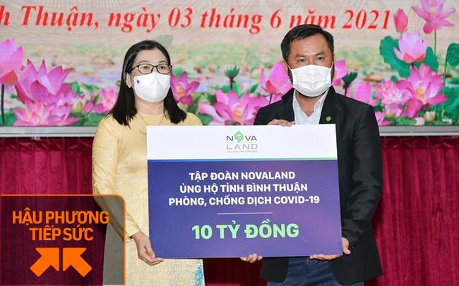 Với tổng ngân sách 60 tỷ đồng cho quỹ phòng, chống Covid-19, tập đoàn Novaland vừa ủng hộ Bình Thuận 10 tỷ đồng